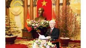 Tổng Bí thư, Chủ tịch nước chúc tết lãnh đạo Đảng, Nhà nước và đồng bào, chiến sĩ cả nước