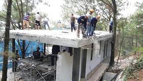 Tạm dừng cưỡng chế công trình xây dựng ở Sóc Sơn, Hà Nội
