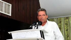 Bí thư Trung ương, Trưởng Ban Tư tưởng Đảng Cộng sản Cuba Víctor Gaute López phát biểu tại hội thảo. Ảnh: Lê Hà/TTXVN