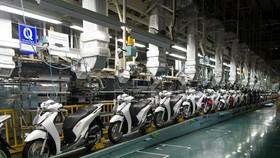 Dây chuyền sản xuất xe máy của tập đoàn Honda