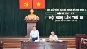 Phó Bí thư Thường trực Thành ủy TPHCM Trần Lưu Quang phát biểu tại hội nghị. Ảnh: Thanhuytphcm.vn