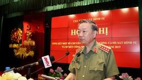 Bộ trưởng Tô Lâm phát biểu chỉ đạo tại Hội nghị. Ảnh: Bộ Công an