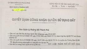 Nguồn gốc, pháp lý khu đất vườn rau tại Tân Bình