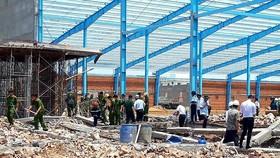 Sập công trình xây dựng, 5 công nhân chết tại chỗ