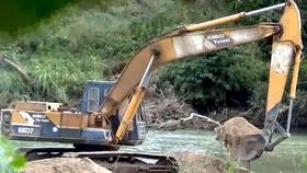 Cát sông ở Tây Nguyên bị khai thác bừa bãi
