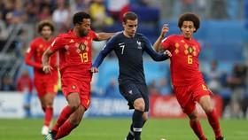 Antoine Griezmann đqã hy sinh rất nhiều trong trận gặp Bỉ.