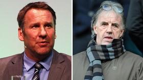 Paul Merson (trái, Sky Sport) và Mark Lawrenson (BBC)