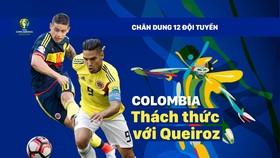 Bảng B: COLOMBIA Thách thức với Queiroz