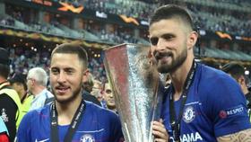 Eden Hazard và Olivier Giroud thắng Europa League mùa qua