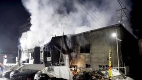 Hiện trường vụ cháy. Ảnh: JAPAN TIMES