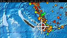 Nguy cơ xảy ra sóng thần dọc bờ biển của Vanuatu và New Caledonia trong phạm vi 1.000 km kể từ tâm chấn (Ảnh: Sky News)