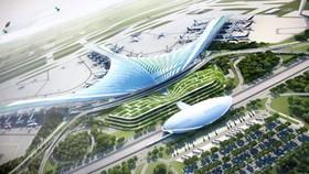 Phương án nhà ga hình lá cọ, dừa nước cách điệu của sân bay Long Thành.
