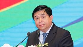 Bộ trưởng Bộ Kế hoạch và Đầu tư Việt Nam Nguyễn Chí Dũng phát biểu. (Ảnh: TTXVN)