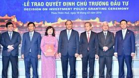 Thủ tướng Nguyễn Xuân Phúc chứng kiến lễ trao quyết định chủ trương đầu tư các dự án liên quan đến lĩnh vực du lịch, nghỉ dưỡng, nông nghiệp.
