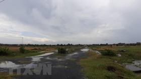 Dự án 'Khu dân cư số 01' Tây Nam thị trấn Long Điền do Công ty cổ phần Phát triển nhà Ô Cấp làm chủ đầu tư. (Ảnh: Huỳnh Ngọc Sơn/TTXVN)