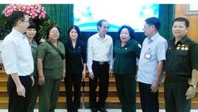 Gặp gỡ bộ đội tình nguyện, thanh niên xung phong làm nhiệm vụ quốc tế