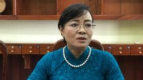 Nguyên Phó Bí thư Thành ủy, nguyên Chủ tịch HĐND TPHCM trả lời phỏng vấn PV Báo SGGP ngay sau khi nhận quyết định nghỉ hưu. Ảnh: KIỀU PHONG