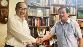 Bí thư Thành ủy TPHCM Nguyễn Thiện Nhân khẳng định nguyên Chủ tịch nước Trương Tấn Sang là tấm gương đạo đức cần noi theo. Ảnh: KIỀU PHONG