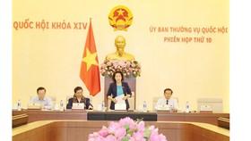 Chủ tịch Quốc hội Nguyễn Thị Kim Ngân phát biểu khai mạc phiên họp thứ 10. Ảnh: quochoi.vn