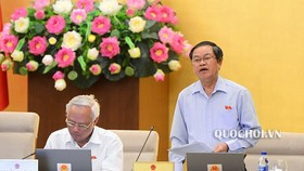 Phó Chủ tịch Quốc hội Đỗ Bá Tỵ điều hành phiên họp