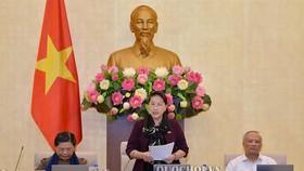 Chủ tịch Quốc hội Nguyễn Thị Kim Ngân phát biểu bế mạc Phiên họp lần thứ 33 của Uỷ ban Thường vụ Quốc hội  