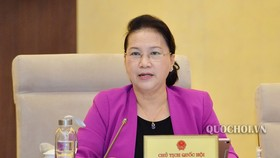 Chủ tịch Quốc hội Nguyễn Thị Kim Ngân phát biểu ý kiến.