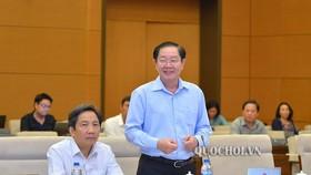 Bộ trưởng Bộ Nội vụ Lê Vĩnh Tân trình dự án Luật Thanh niên sửa đổi