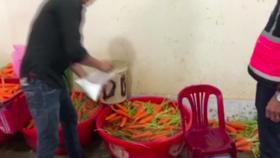 Bắt quả tang 4 cơ sở tẩy trắng hơn 6 tấn củ cải, cà rốt bằng hoá chất