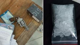 Tang vật ma túy, súng đạn cơ quan công an thu giữ. Ảnh: CQĐT