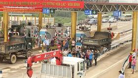 Bộ GTVT có công điện hoả tốc yêu cầu bảo đảm an ninh trật tự trạm BOT Hoà Lạc- Hoà Bình