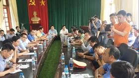 Bộ trưởng Nguyễn Văn Thể chỉ đạo tại cuộc họp sáng 23-7 tại Hải Dương