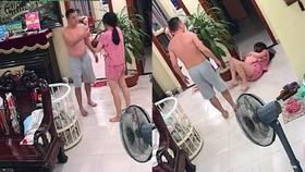 Hình ảnh võ sư đánh vợ đang ôm con nhỏ tại Hà Nội