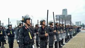 Cảnh sát cơ động trực 100% quân số trong thời gian diễn ra Hội nghị thượng đỉnh Mỹ - Triều
