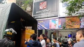 Khám xét hàng loạt cửa hàng di động của Nhật Cường