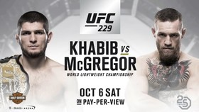 Hình ảnh quảng bá trận McGregor và Nurmagomedov