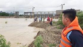 Khu vực anh Nguyễn Anh Văn bị lũ cuốn trôi.