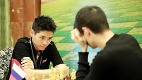 黎俊明在比賽中。