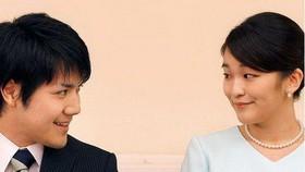 日本真子公主與未婚夫。