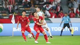 越南隊與伊拉克隊比賽一瞥。