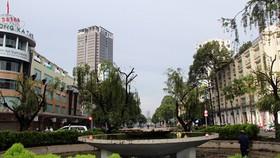 昔日在阮惠街上的噴水池。