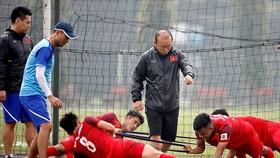 越南球隊進行訓練。