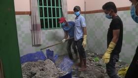 發現兩具屍體埋在混凝土中