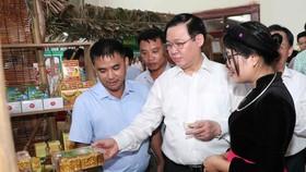 王廷惠副總理參觀各展位。
