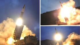 朝版陸軍戰術導彈系統發射場面。