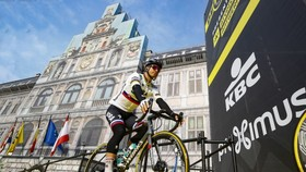 Peter Sagan ở buổi ra mắt Tour of Flanders 2019