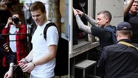Kokorin và Mamayev trên đường rời Tòa án, thẳng tiến về trại giam