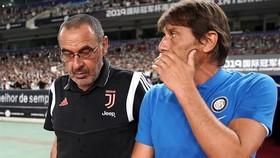 Conte và Sarri, 2 cựu HLV của Chelsea