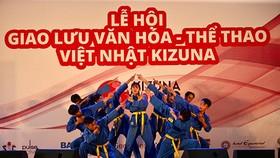 Các võ sĩ Vovinam biểu diễn tại lễ hội thể thao Việt Nhật