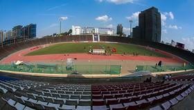 Quang cảnh sân Olympic Phnompenh (Campuchia). Ảnh: Dũng Phương