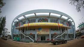 Nhà Thi đấu đa năng, tỉnh Kiên Giang đã sẳn sàng để chuẩn bị cho giải Bóng chuyền nữ quốc tế Cúp VTV9 – Bình Điền lần thứ XIII